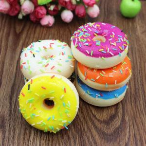 Мялка сквиш «Разноцветный пончик» оптом