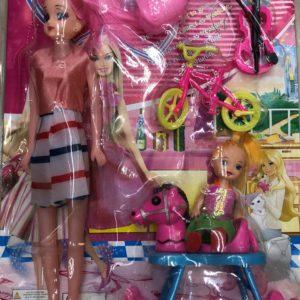 Кукла модель «Мама с дочкой» (6 предметов) оптом