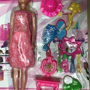 Кукла модель с одеждой (7 предметов) оптом