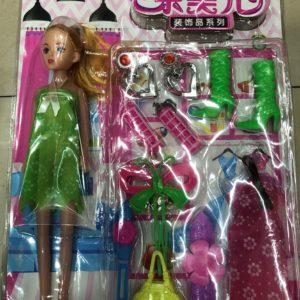 Кукла модель с аксессуарами (12 предметов) оптом