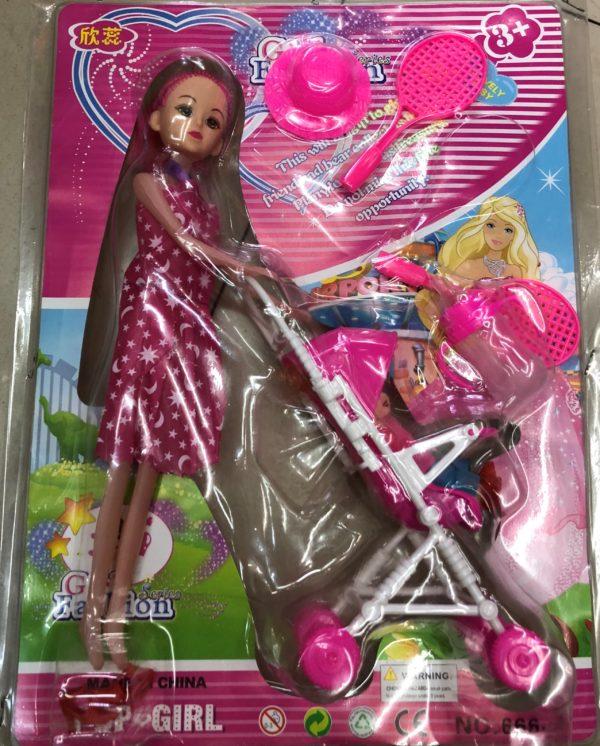 Кукла «Мама с коляской» (7 предметов) оптом