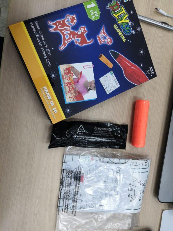 Набор для творчества «Светящаяся 3D ручка» (1 ручка) товар из Китая