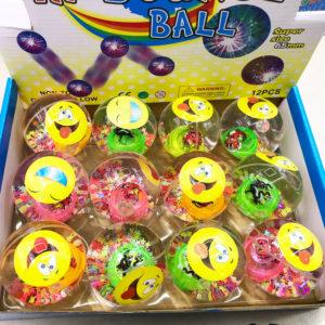 Игрушка-шар «Смешные рожицы»  со светящимся элементом оптом