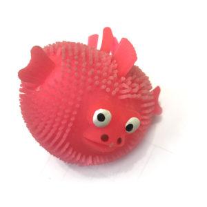 Резиновая игрушка «Рыбка» со светящимся шариком внутри