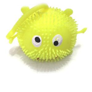 Резиновая игрушка «Рожица» со светящимся шариком внутри оптом