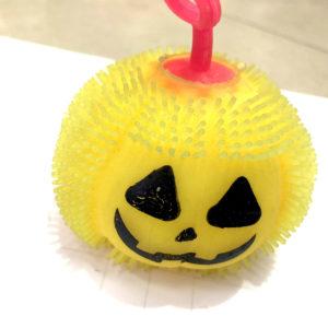 Резиновая игрушка «Тыква» со светящимся шариком внутри оптом