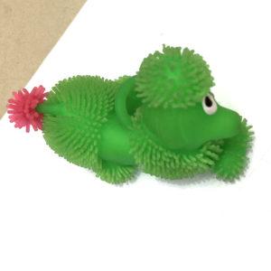 Резиновая игрушка «Пудель» со светящимся шариком внутри оптом