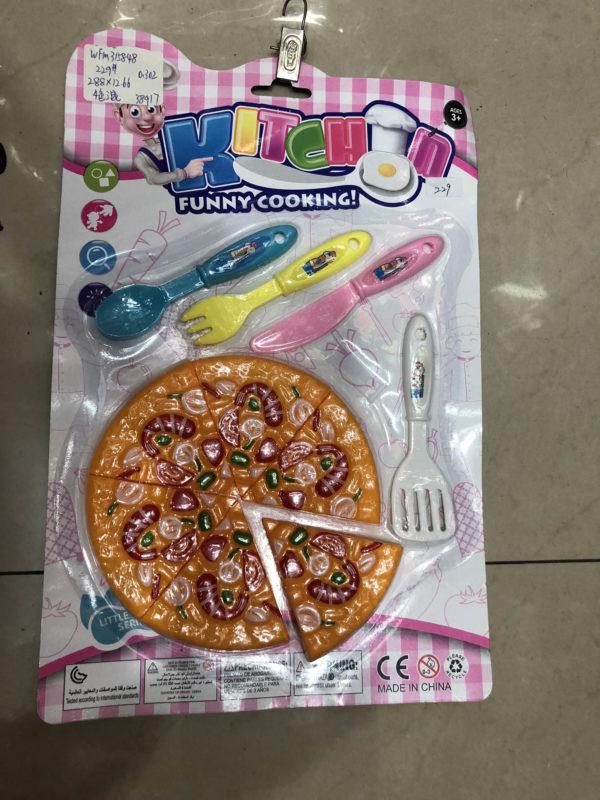 Игрушечный набор еды «Пицца» оптом