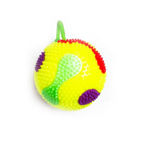 Резиновая игрушка «Мяч» на веревке 7005-0058 оптом