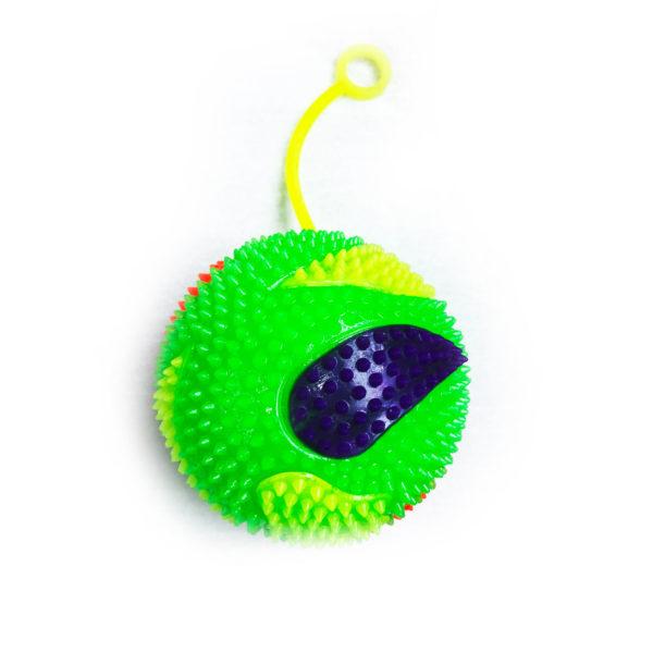 Резиновая игрушка «Мяч» на веревке 7005-0062 оптом