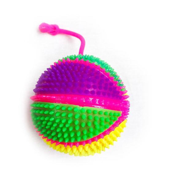 Резиновая игрушка «Мяч» на веревке 7005-0064 оптом