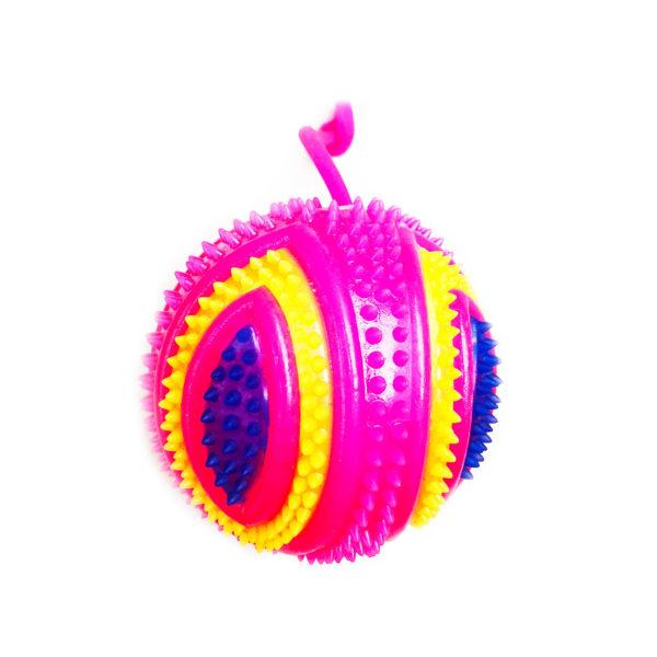 Резиновая игрушка «Мяч» на веревке 7005-0067 оптом
