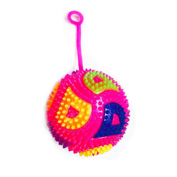 Резиновая игрушка «Мяч» на веревке 7005-0069 оптом