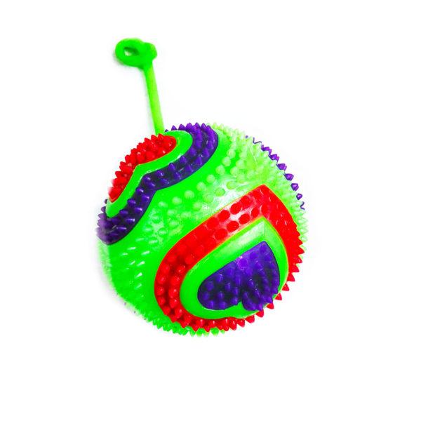 Резиновая игрушка «Мяч» на веревке 7005-0071 оптом