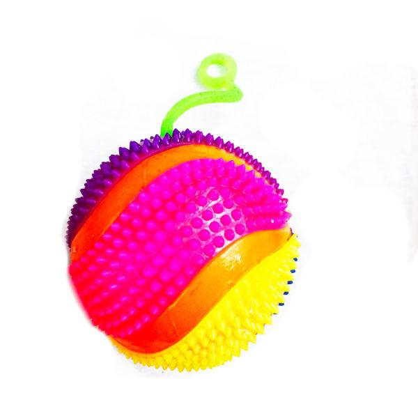 Резиновая игрушка «Мяч» на веревке 7005-0073 оптом
