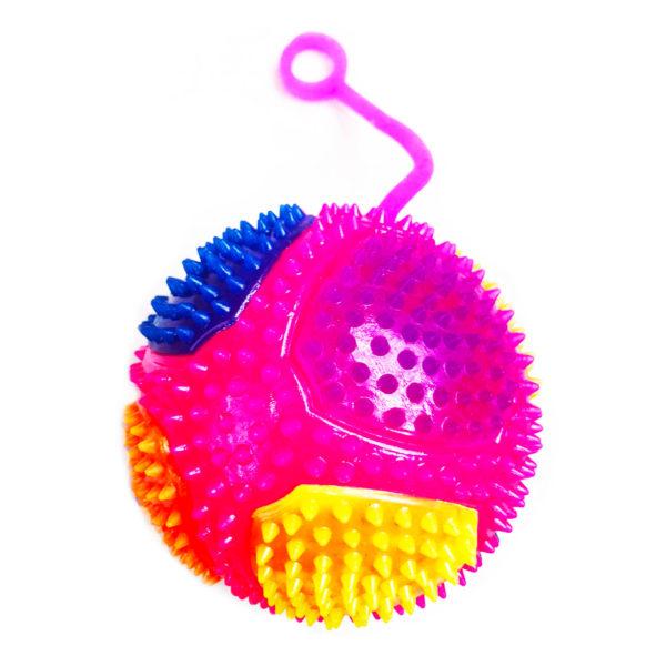 Резиновая игрушка «Мяч» на веревке 7005-0076 оптом