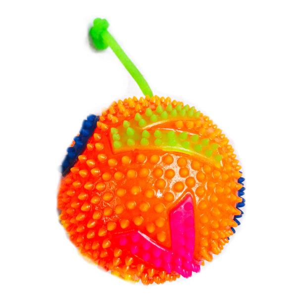 Резиновая игрушка «Мяч» на веревке 7005-0077 оптом