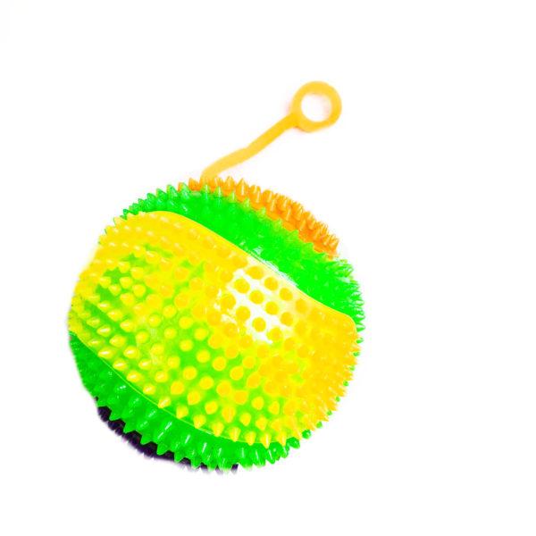Резиновая игрушка «Мяч» на веревке 7005-0079 оптом