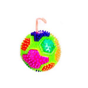 Резиновая игрушка «Мяч» на веревке 7005-0082 оптом