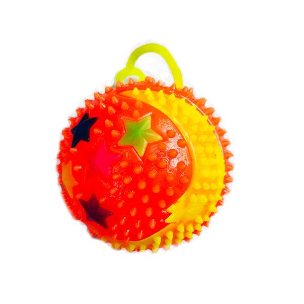 Резиновая игрушка «Мяч» на веревке 7005-0084 оптом