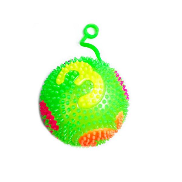 Резиновая игрушка «Мяч» на веревке 7005-0087 оптом