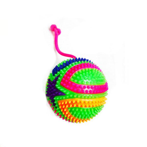 Резиновая игрушка «Мяч» на веревке 7005-0089 оптом