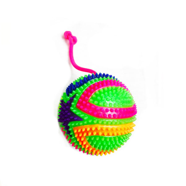 Резиновая игрушка «Мяч» на веревке 7005-0090 оптом