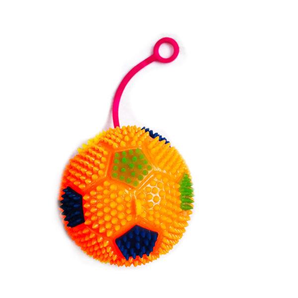 Резиновая игрушка «Мяч» на веревке 7005-0092 оптом