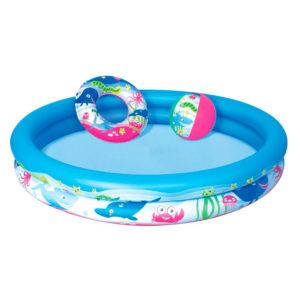 Бассейн детский «3 в 1» С мячом и кругом оптом